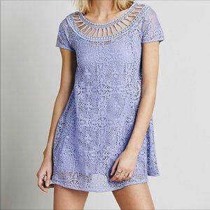 Free People Lavender Crochet Dress